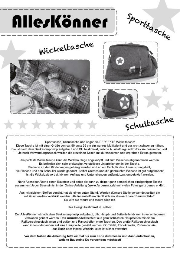 AllesKönner (6513) | Diverses | Schnittmuster | Manufaktur Goldau