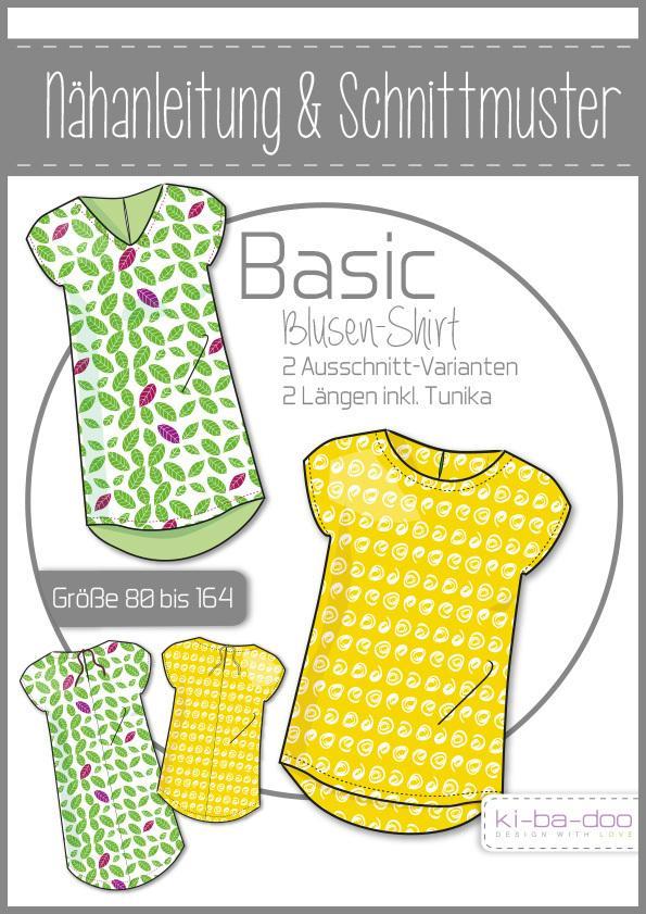 9c5d1d04b332f6 Basic Blusen-Shirt Mädchen Kibadoo