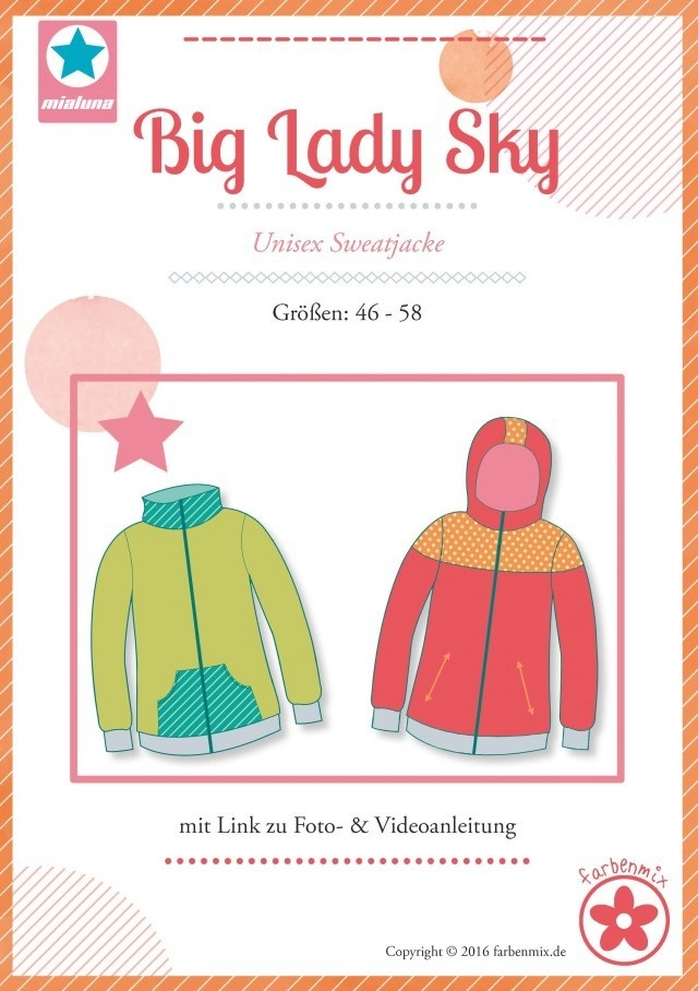 Big Lady Sky Unisex Sweatjacke