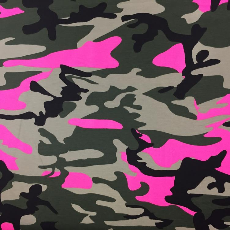 Camouflage neon pink