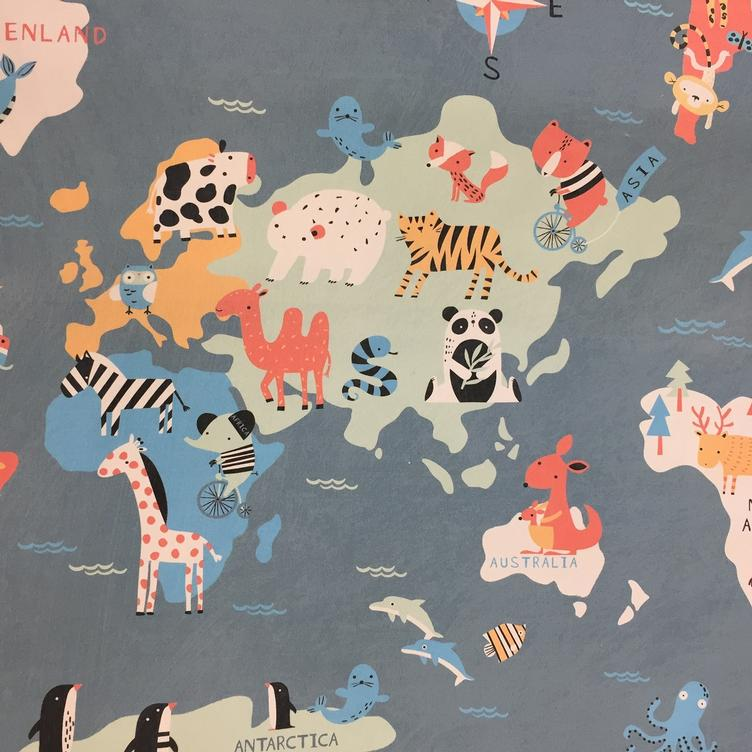 Canvas Kinderatlas Tiere