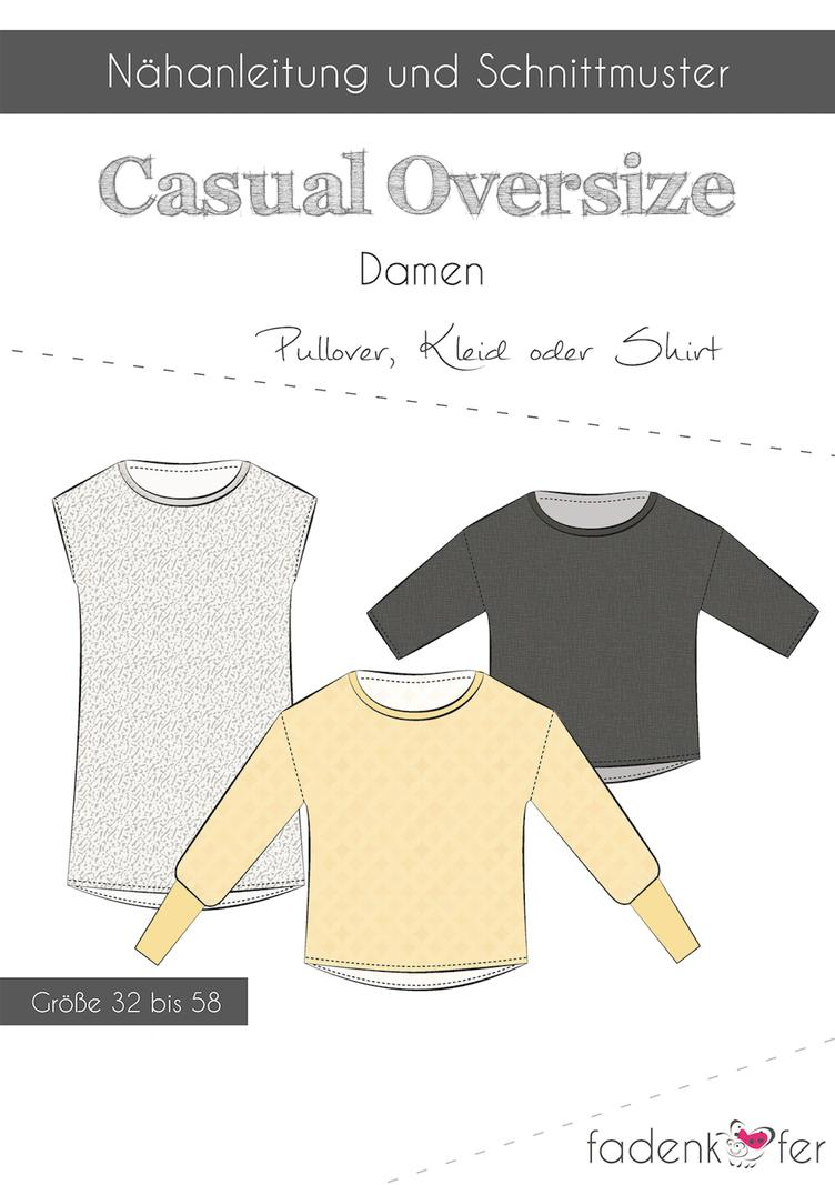 Casual Oversize - Pullover, Kleid oder Shirt
