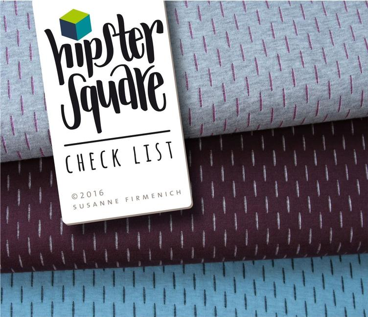 Check List Hipster Square pink