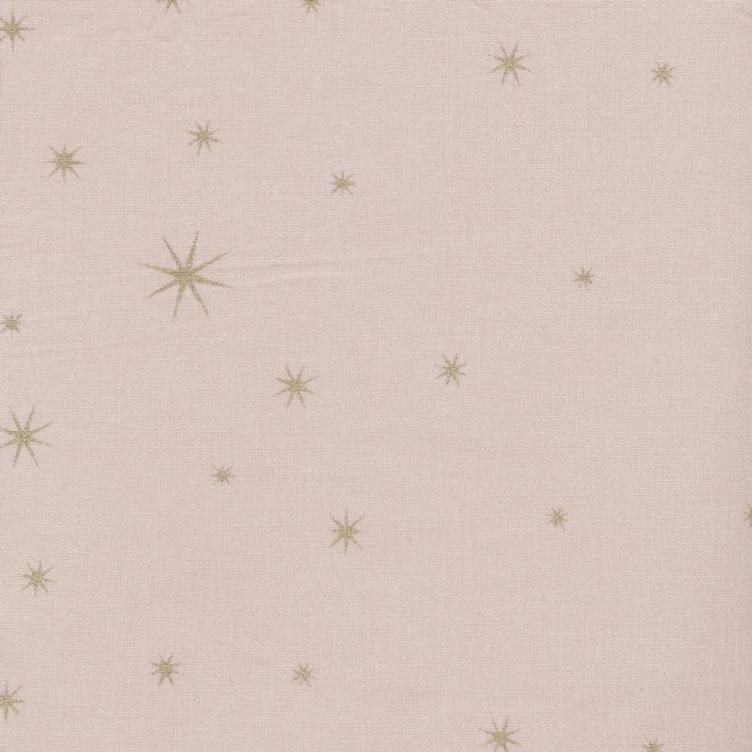 Coated Fabric X-Mas Star gold rose
