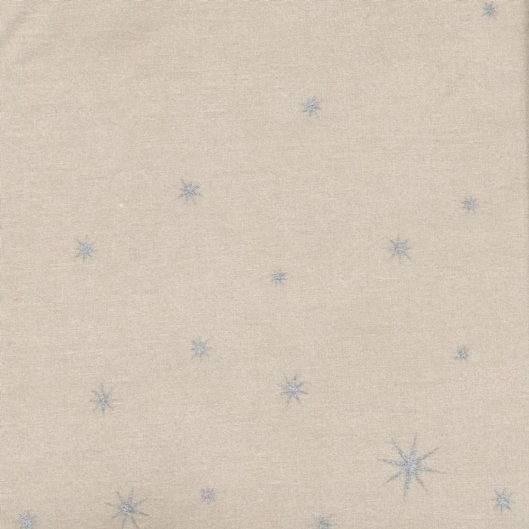 Coated Fabric X-Mas Star Silver Toffee