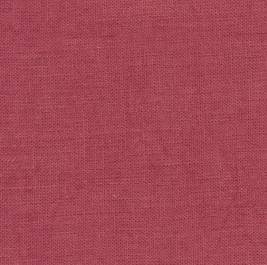 coated linen raspberry