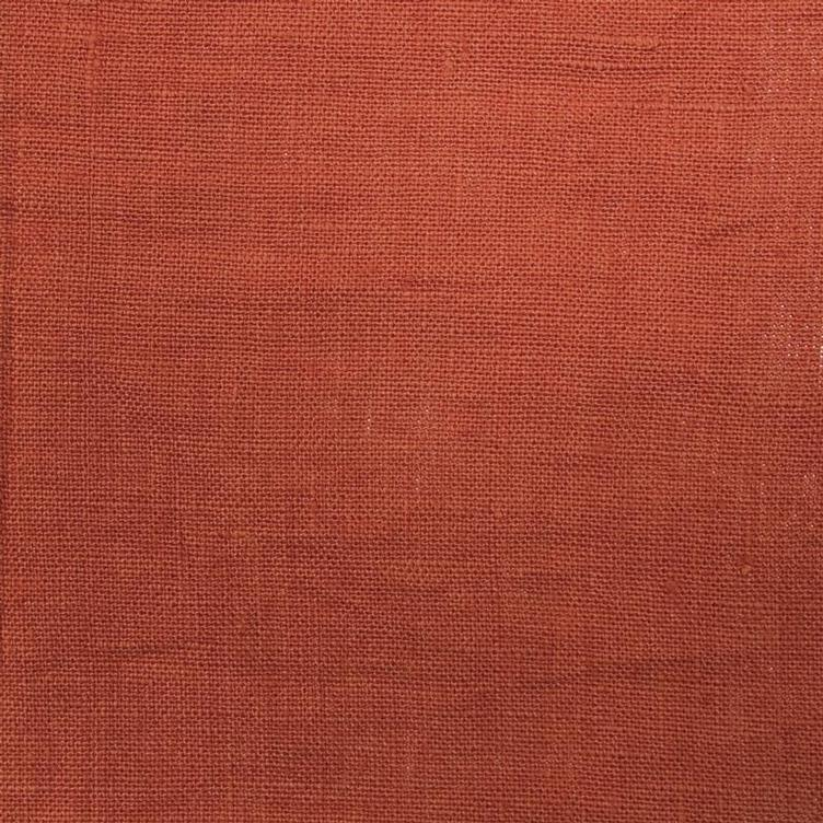 coated linen terracotta