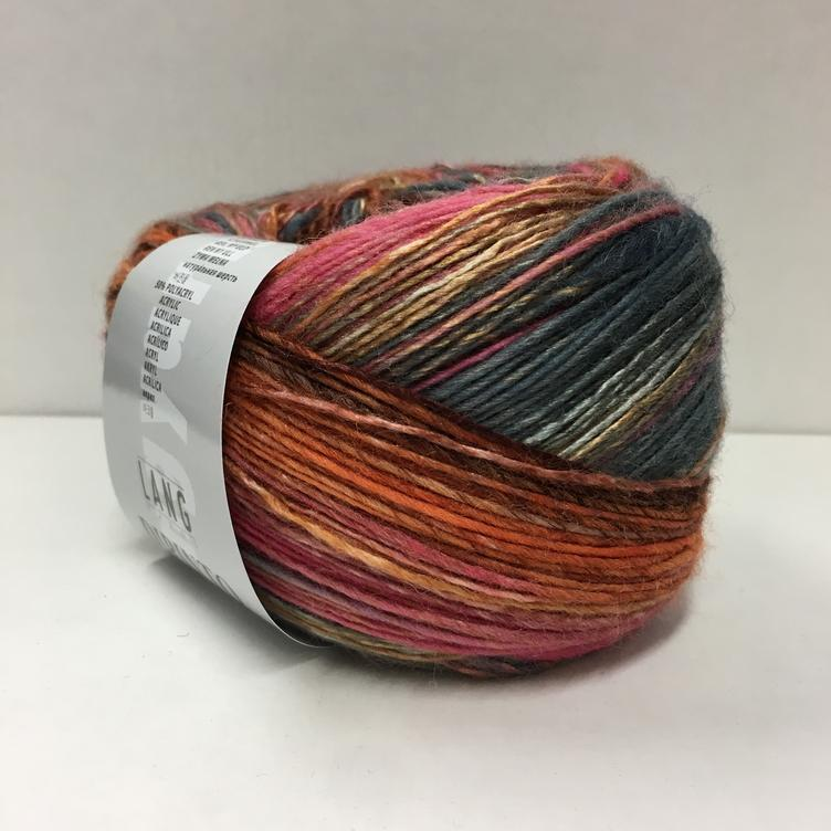 Dipinto rosa orange grau 048
