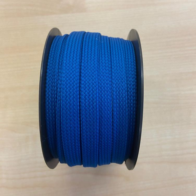 Flachkordel 10 mm royal blau