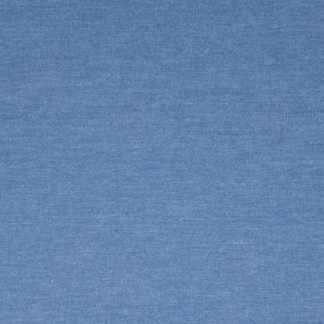 French Terry Sweat jeansblau meliert