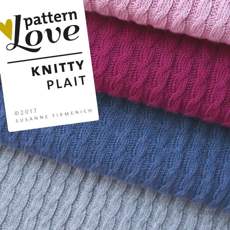 Grobstrick Knitty Plait jeansblau