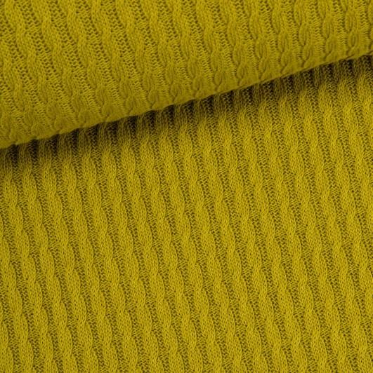 Grobstrick Knitty Plait senfgelb