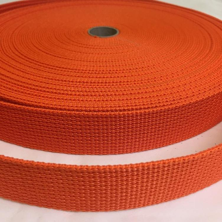 Gurtband 30 mm orange GANZE ROLLE