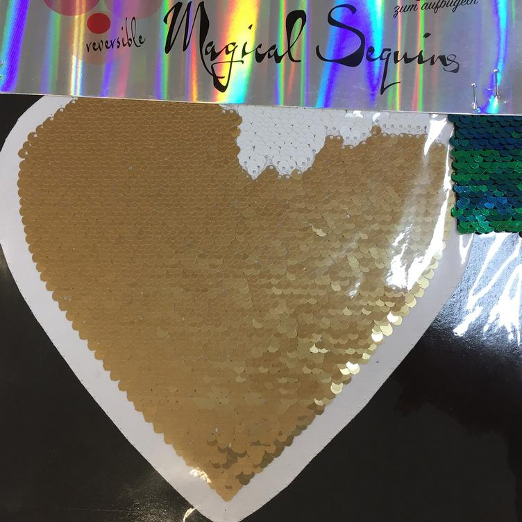 Magical Sequins Heartbeat Herz gold weiss