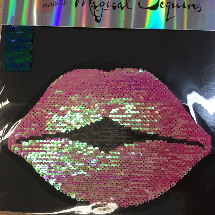 Magical Sequins Lovely Kiss Lips pink/schwarz