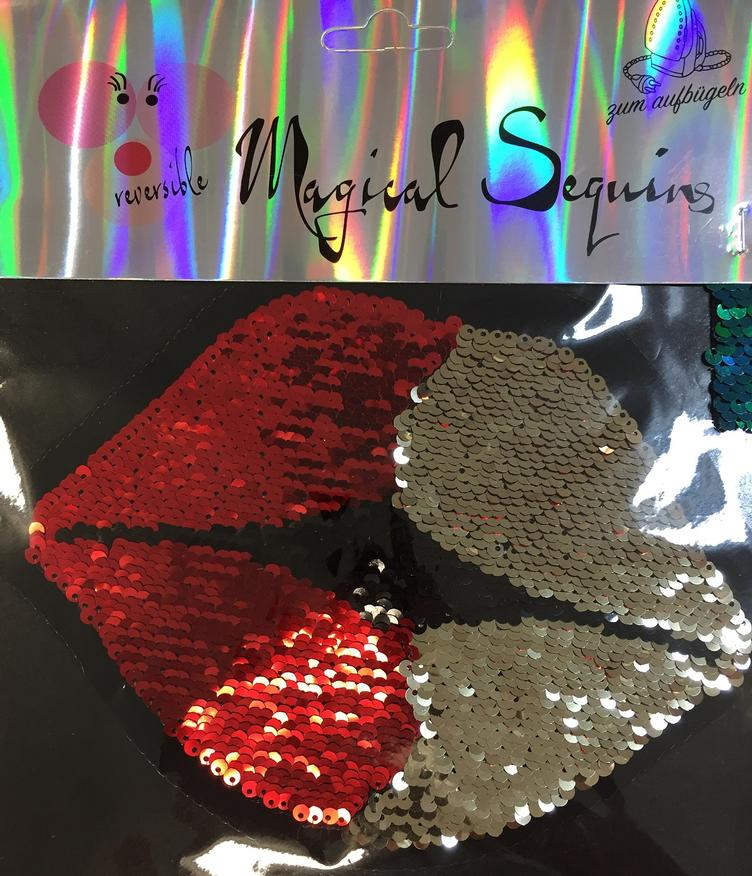Magical Sequins Lovely Kiss Lips rot gold