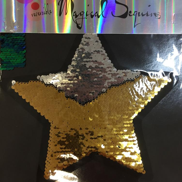 Magical Sequins Starshine Stern silber gold
