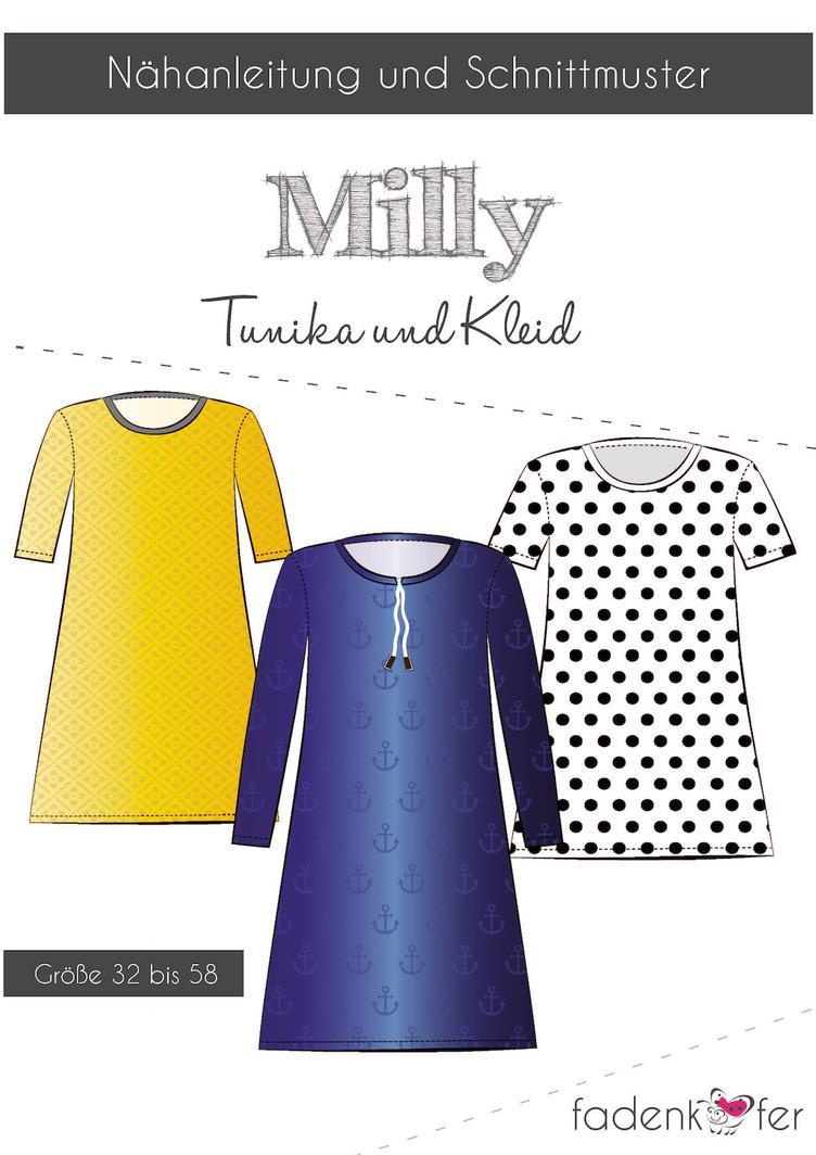 Milly Tunika und Kleid (7646) | Damen | Schnittmuster | Manufaktur ...