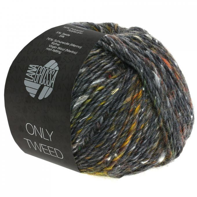 Only Tweed anthrazit-kupfer-grau 108