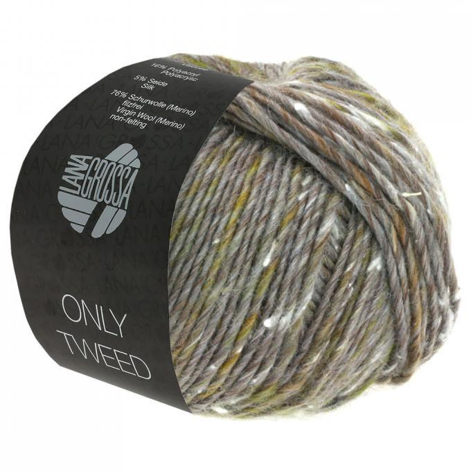 Only Tweed braungrau-beige-senf-ocker 107