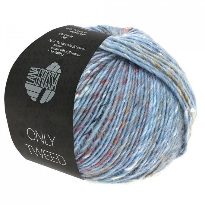 Only Tweed graublau-silbergrau-grau 110