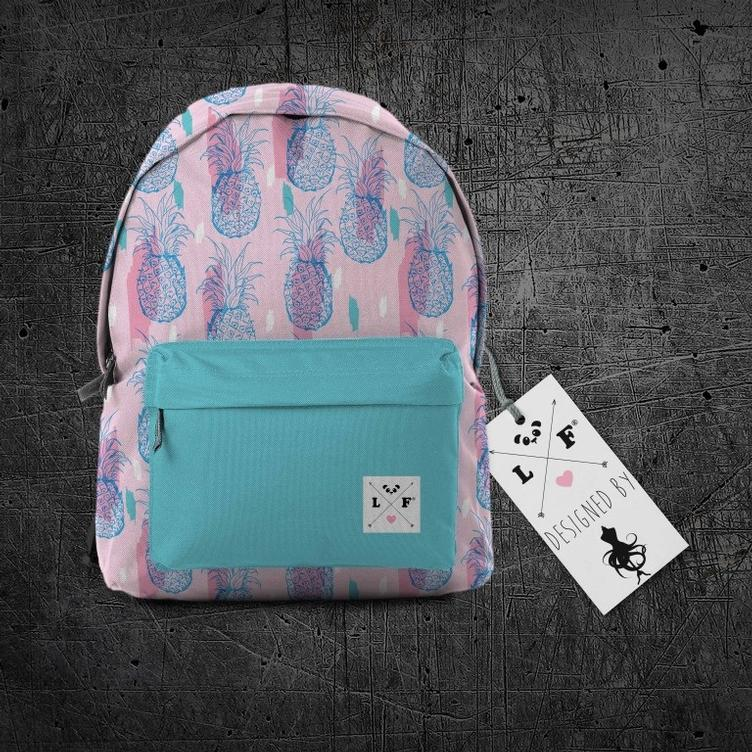 Oxford Rucksackstoff Pink Pineapple