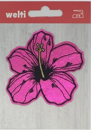 Patch Hibiskusblüte pink