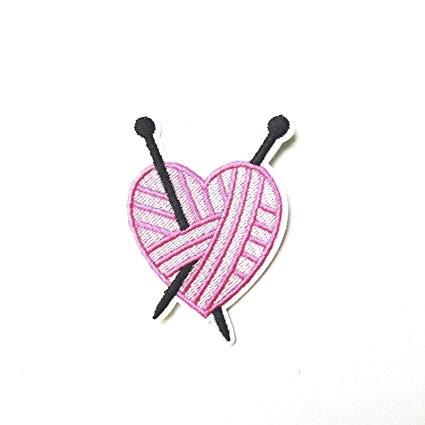 Patch Knitting Heart
