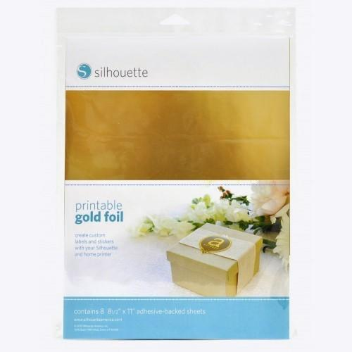 Silhouette Foil Stickers gold
