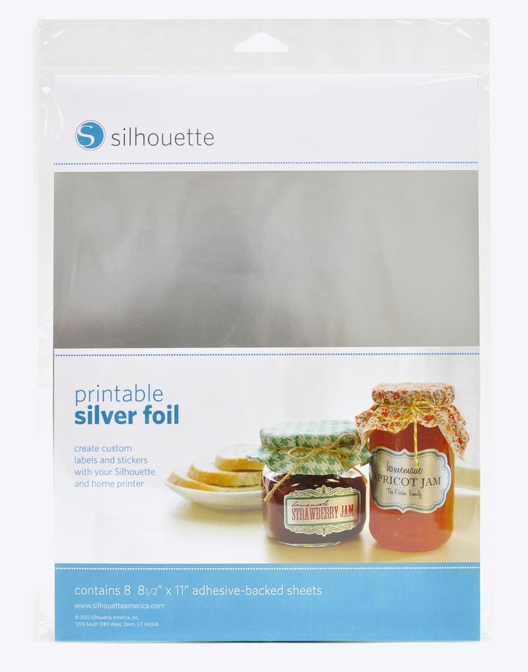 Silhouette Foil Stickers silber
