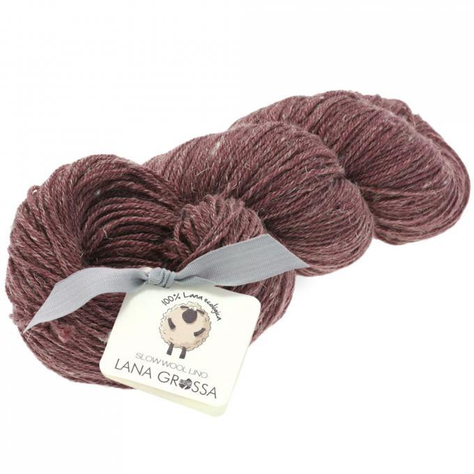 Slow wool lino 015 burgund