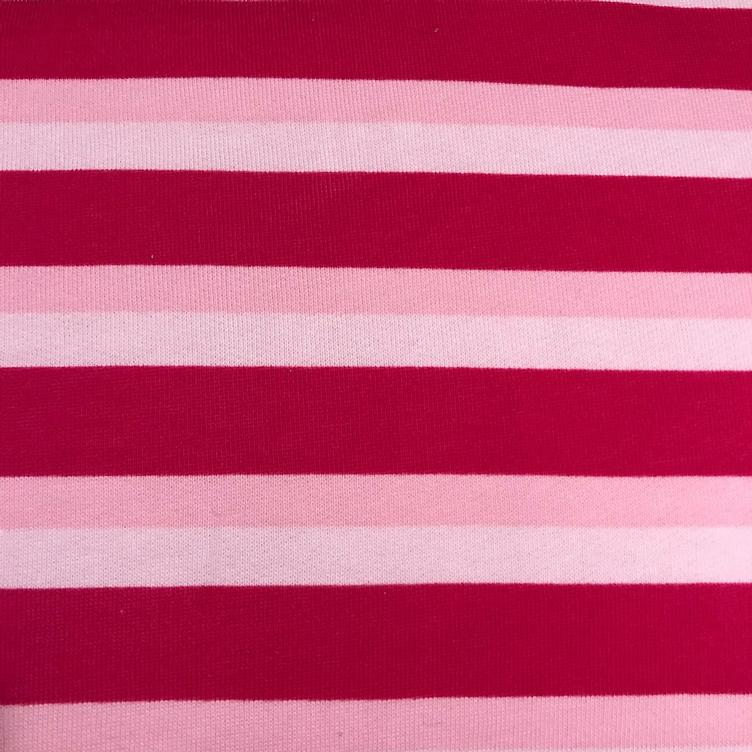 Sweat- Fleece Stripes pink Meterpreis!