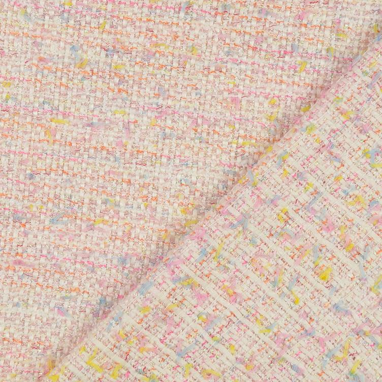 Tweed Bouclé rosa METERPREIS - 1
