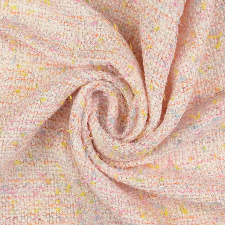Tweed Bouclé rosa METERPREIS - 0