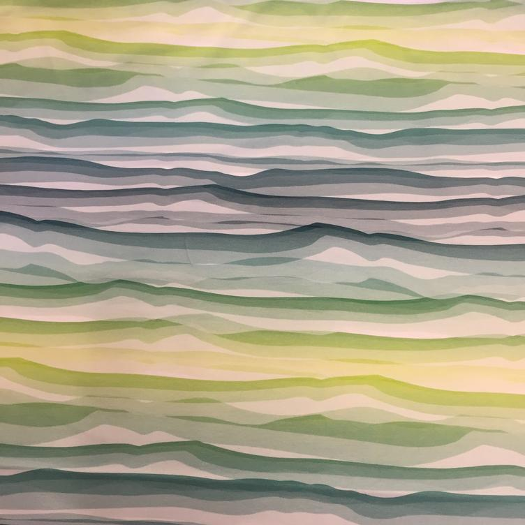 Wavy Stripes by Lycklig Design grün