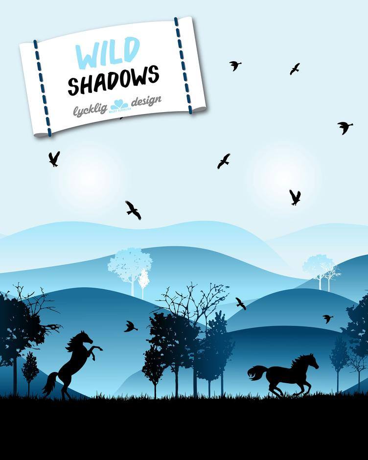Wild shadows Horses blau by lycklig design