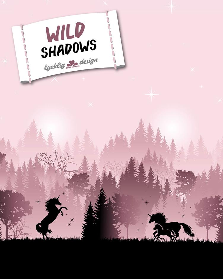 Wild shadows Unicorn pink by lycklig design