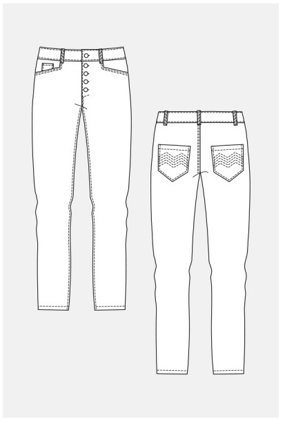 Wyome Boyfriend Jeans (6651) | Damen | Schnittmuster | Manufaktur Goldau